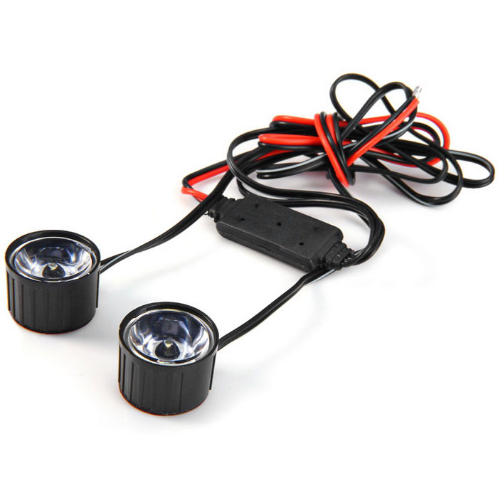 Qook Motorcycle 3W LED blanche d'urgence Avertissement Brake Light (12V / 2PCS)