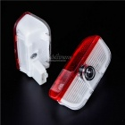 3W 500lm LED de porte de voiture Bienvenue Light - Transparent + Rouge (9 ~ 36V / 2PCS)