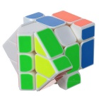 YJ 3*3*3 Irregular White Background Fisher Cube - White + Multicolor