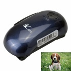 LK100 Rechargeable Pets GSM GPS Tracker w/ Pets Collar - Sapphire Blue
