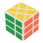 YJ 3*3*3 Irregular White Backgroud Magic IQ Cube - White + Multicolor