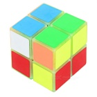 YJ 2 * 2 * 2 Luminous Brain Teaser IQ Cube - Verde Fluorescente + Multicolor