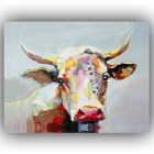PD09 Unframed 1-Panel Canvas Cow Painting - Red (40cm*50cm)