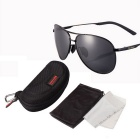 Reedoon 1310-1 UV400 Protection Polarized Sunglasses - Black + Gray