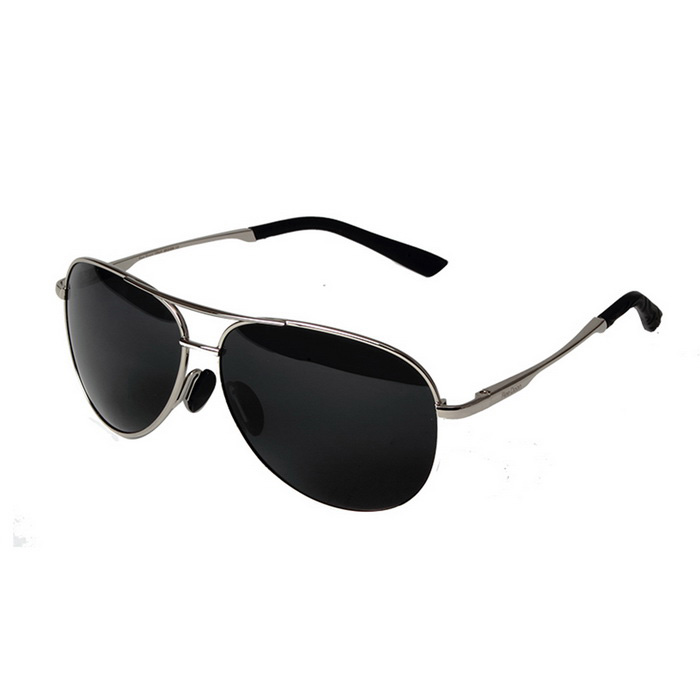 Reedoon 1310-1 UV400 Protection Polarized Sunglasses - Silver + Gray