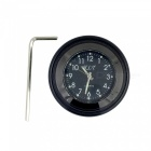 Motorcycle Handlebar Mounted Aluminum Alloy Clock Watch - Black