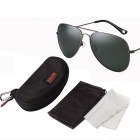 Reedoon 1059 UV400 Protection Polarized Sunglasses - Gun Color + Green