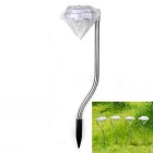 Diamond Shaped Garden Solar Power Colorful LED Light - Black + Silver