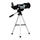 150X High Power Astronomical Telescope w/ Tripod - Black + Silver