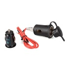 Qook Car Cigarette Lighter Power Plug + Dual USB Charger - Black