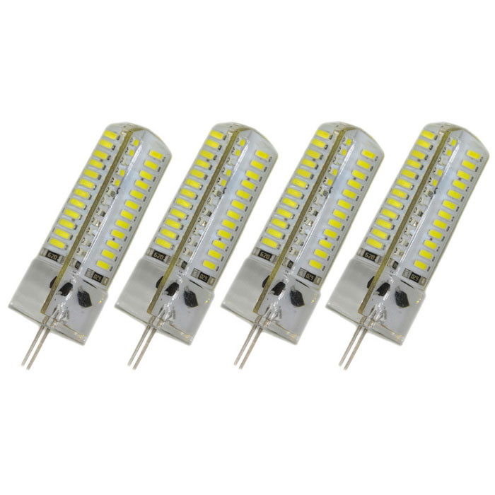 G4 4W LED Cold White Light Bulb - White + Yellow (DC 12V / 4PCS)