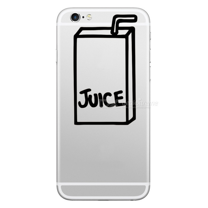 Hat-Prince Juice Box Pattern Sticker for IPHONE - White + Black