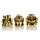 Outdoor Mask Style Alloy Knife Pendants - Golden (3PCS)