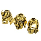 Máscara Outdoor Estilo Alloy Faca Pendentes - Golden (3PCS)