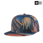 WUKE W0283 Unisex 3D Scream Pattern Peaked Cap - Multi-Colored