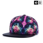 WUKE W0276 Unisex 3D Starry Pattern Peaked Cap - Black + Multi-Colored