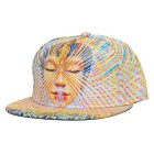 WUKE W0218 Unisex 3D Buddha Pattern Peaked Cap - Multi-Colored