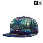 WUKE W0216 Unisex 3D Eye Pattern Peaked Cap - Green + Multi-Colored