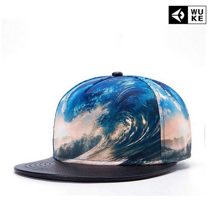 WUKE W026 Unisex 3D Surf Pattern Peaked Cap - NO.6 SurfCaps and Hats<br>Form ColorBlue + Pink + Multi-ColoredModelW026/3DQuantity1 DX.PCM.Model.AttributeModel.UnitShade Of ColorMulti-colorMaterial100% PolyesterGenderUnisexSuitable forAdultsStyleFashionStrap TypeSplit jointSeasonsFour SeasonsHead Circumference52~59 DX.PCM.Model.AttributeModel.UnitPacking List1 * Cap<br>