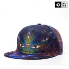 WUKE W024 Unisex 3D Eyes Pattern Peaked Cap - Multi-Colored