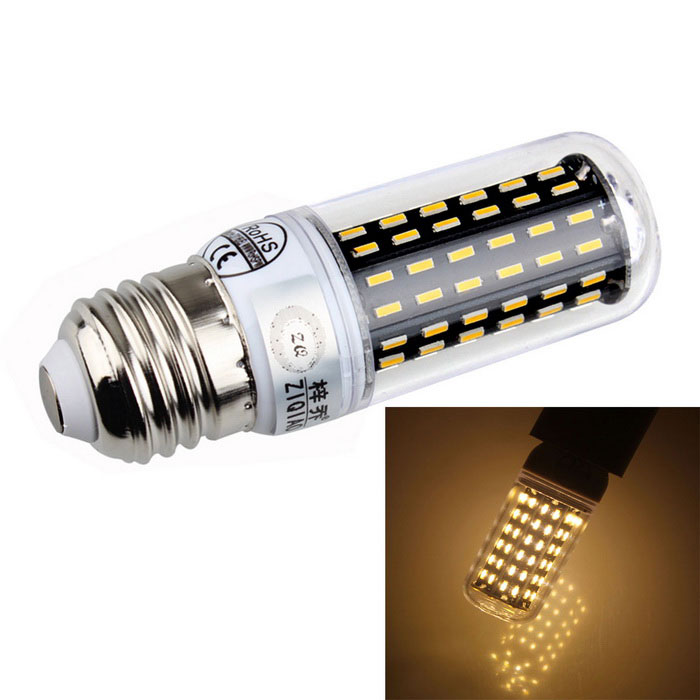 ZIQIAO YM4009 E27 9W 3300K 96-SMD LED Warm White Light Bulb (220~240V)