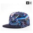 WUKE W023 Unisex 3D Planets Pattern Peaked Cap - NO.3 Planets