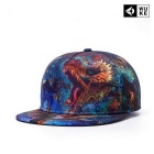WUKE W022 Unisex 3D Dragon Pattern Peaked Cap - Multi-Colored
