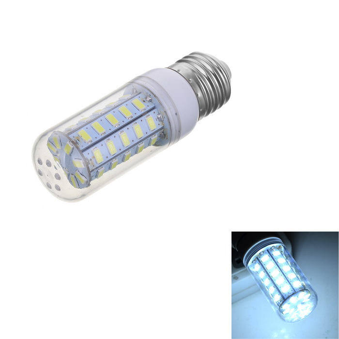 Marsing E27 7W 600lm 48-SMD 5730 LED Cold White Light Bulb (AC 220V)