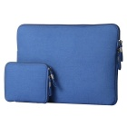 "Denim Laptop Inner Bag + Storage Bag for MacBook 12"" - Jewelry Blue"