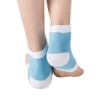 Cracked Skin Moisturizing Treatment Gel Spa Sock - Blue + White (Pair)