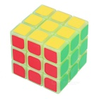 YJ 3 * 3 * 3 Fluorescentes Magic Cube IQ - verde + Multicolor
