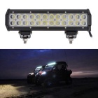 72W Spot Beam 7200lm White Working Light Bar - Black (DC 10-30V)