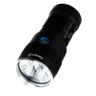 FandyFire 9-LED Flashlight w/ Battery Indicator - Black (4 * 18650)