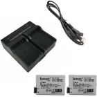Ismartdigi LPE8 2*1120mAh Digital Camera Batteries + Dual Charger Set