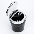 CARKING Car Ash Tray Ashtray w/ LED Light - Black + Silver