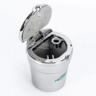 CARKING Car Ash Tray Ashtray w/ LED Light - Silver
