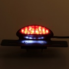 Qook JHBK678001 19 LED Red + White Light Motorcycle Taillight (DC 12V)