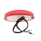 Qook JHBK675001 White + Red Light Motorcycle Tail Light - Red (DC 12V)