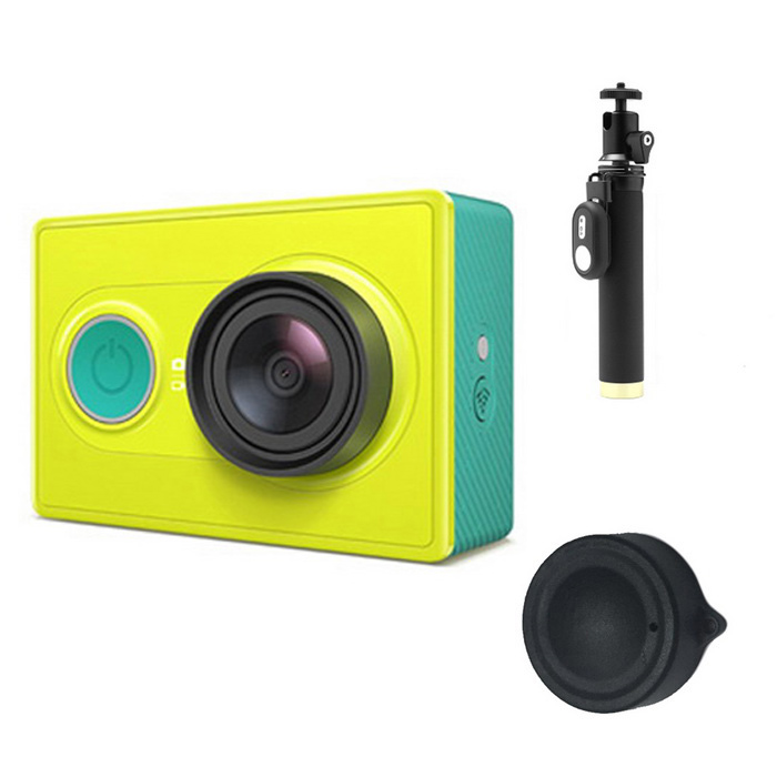 Xiaomi Xiaoyi 16MP Sports Camera + Monopod + Lens Cover Set - GreenSport Cameras<br>Form  ColorGreen (Yi Monopod)Shade Of ColorGreenMaterialPC + ABSQuantity1 pieceImage SensorCMOSImage Sensor Size2/3 inchesAnti-ShakeYesFocal Distance2.73+/-5% mmFocusing RangeN/AApertureF2.8Wide Angle155 degreeEffective Pixels16MPImagesJPEGStill Image Resolution4608*3456VideoOthers,MP4Video Resolution4608*3456Video Frame RateOthers,1080P 60fps / 1080P 48fps/1080P 30fps/1080P 24fps/960P 60fps/960P 48fps/720P 120fps/720P 60fps/720P 48fps/480P 240fpsCycle RecordYesISONoExposure CompensationNoSupports Card TypeTFSupports Max. Capacity64 GBBuilt-in Memory / RAMNoOutput InterfaceMicro USBLCD ScreenNoBattery Measured Capacity 990 mAhNominal Capacity1020 mAhBattery TypeLi-ion batteryBattery included or notYesVoltage5 VBattery Charging Time3~4 hoursLow Battery AlertsYesWater ResistantOthers,40mSupported LanguagesSimplified ChineseOther FeaturesWi-Fi / Bluetooth 4.0Packing List1*Sport camera1*1020mAh battery 1*Charging cable (20cm)1*Chinese use manual1*Yi Monopod (with Bluetooth Remote Controller)1*Lens cover(black)<br>