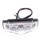 Qook 9-F5 Red Light Motorcycle Tail Light - White + Black (DC 12V)