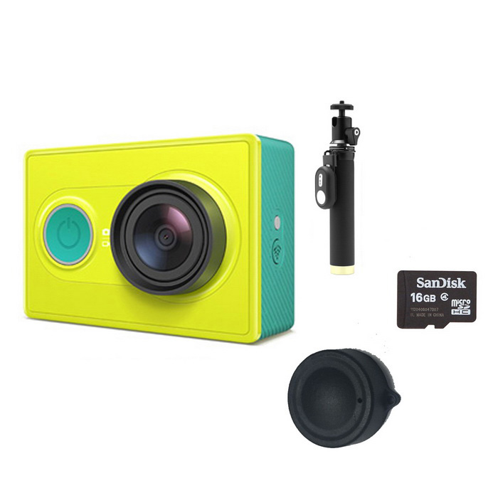Xiaomi Xiaoyi 16MP Sports Camera + Yi Monopod + tampa da lente + 16GB TF