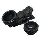 0.35X Super Wide Angle + Fish Eye + 15X Macro Camera Lens Kit - Black