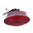 Qook Motorcycle Bike Red LED Tail Rear Running Light w/ Silver Casing