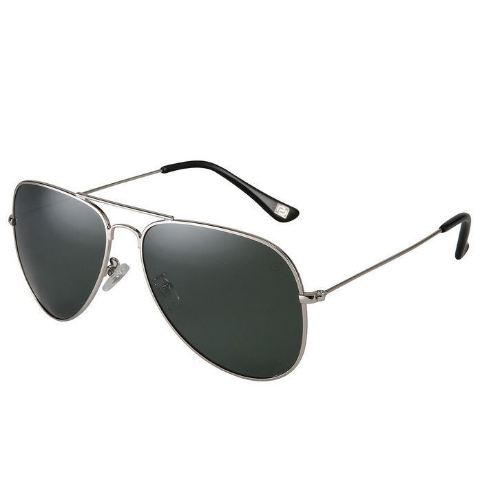 Reedoon 1059 UV400 Protection Polarized Sunglasses - Silver + Green