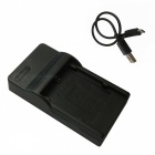 LPE6 Micro USB Mobile Camera Battery Charger - Black