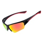 SENLAN 6501C1 Outdoor Sports Anti-UV Sunglasses - Black + Red