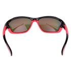 SENLAN 6502C1 Colorful Lens Sports Sunglasses - Black + Red