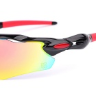 SCREW 6208C1 Sports Goggles Sunglasses - Black + Red