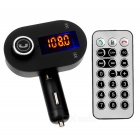 Car Bluetooth Hands-Free Audio Transmitter with USB Charger - Black