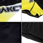 Spakct Quick-drying Padded Short Cycling Pants - Black + Yellow (XXL)